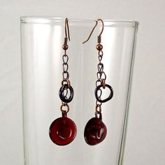Coffee Cup Earrings Red by XOHandworks