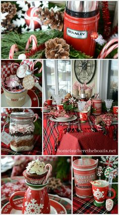 Candy Cane Cocoa Party with Stirring Spoons, Party Pails and Hot Chocolate Cupcakes! #Christmas #cocoa