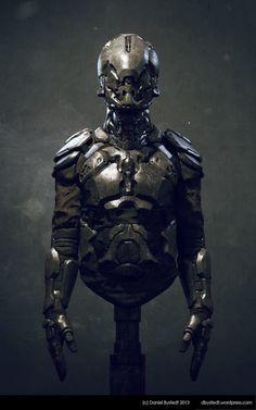 ArtStation - Sci-fi armor front, Daniel Bystedt