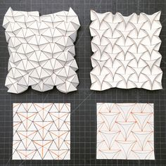 27 Great Photo of Origami Tessellations Pattern . Origami Tessellations Pattern Ron Resch Tessellation And Curved Version Creativepaper Origami Ball, Origami And Kirigami, Origami Paper Art, Diy Paper, Paper Crafting, Origami Boxes, Dollar Origami, Oragami, Origami Design