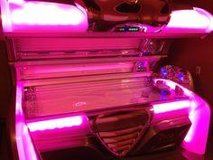 """Oh hail, Pink Goddess of tanning beds!"" haha. #tan #tanning #pink"