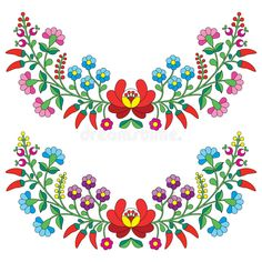 Download Hungarian Floral Folk Pattern - Kaloscai Embroidery With Flowers And Paprika Stock Illustration - Image: 50410139