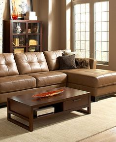 Martino Leather Sectional Living Room Furniture Sets & Pieces