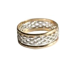 Three Rings, Stacking Rings, Design Your Own, Basket Weaving, Weave, Fill, Bands, Wedding Rings, Engagement Rings