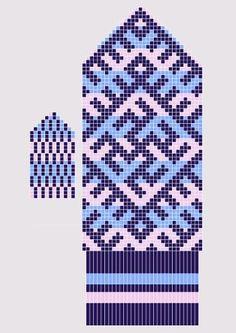 "Вязание.  Жаккард - ""Зимняя радуга"""