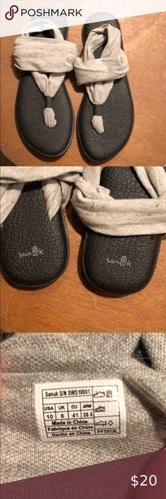 SANUK Yoga Mat Sunshine Knotted Black Turquoise Women/'s Sandals Shoes Sz 8