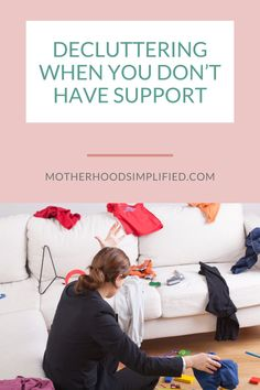 "Do you feel like you don't have support from your husband, kids, or well-meaning family who keep sending you ""stuff"" when it comes to decluttering and simplifying your home and your life? Join me as I discuss ways you can not only get them on board, but also help you understand that you don't need permission to work toward your decluttering goals so you can be more present for them. Do You Feel, Decluttering, Meant To Be, Join, Things To Come, Challenges, Husband, Goals, Feelings"