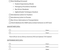 Orientation And Mobility Assessment Checklist  Google Search