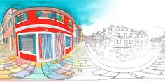 """Check out my @Behance project: """"Burano - 360⁰ painting animation in VR"""" https://www.behance.net/gallery/59305251/Burano-360-painting-animation-in-VR"""