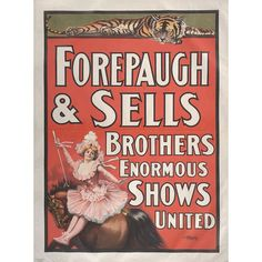 Forepaugh-Sells Enormous Shows United: Title Bill. Date: 1902.