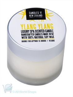 Luxury Spa Candle - Ylang Ylang Scented Candle | Shop New Zealand NZ$ 21.90