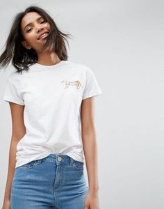ASOS Made In Kenya T-Shirt With Leopard Motif