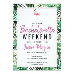 Bachelorette Weekend Itinerary Tropical Flamingo Invitation Bachelorette Itinerary, Beach Bachelorette, Bachelorette Party Themes, Bachelorette Party Invitations, Zazzle Invitations, Wedding Invitations, Shower Invitations, Wedding Rsvp, Wedding Ideas