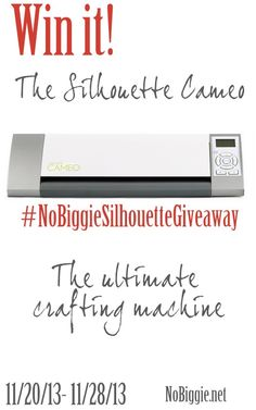 Silhouette Giveaway on No Biggie. Pick me!