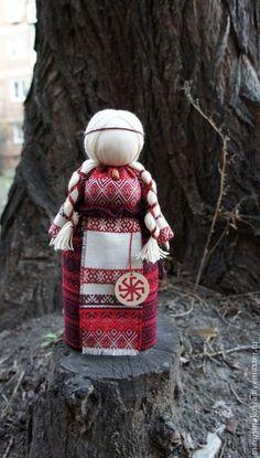 "Кукла-оберег ""Лада"" - бордовый,кукла-оберег,традиционная кукла,славянский оберег"