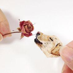 킁킁킁 좋은 향기는 아니야 킁킁 . #자수 #손자수 #바느질 #수작업 #멍스타그램 #꽃 #embroidery #handmade #handembroidery #instadog #flower #handcrafted #needlework #刺繍