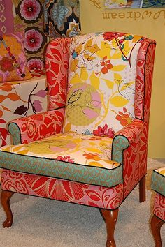 2 of these chairs for the front living room. I adore anything in Anna Maria Horner fabric.