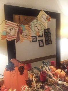 fall banner  Stampin Up Banner Kit