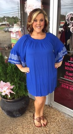 Blue Bell Sleeve Gauze Dress - #blondellamydean #plussizefashion #plussize #curves