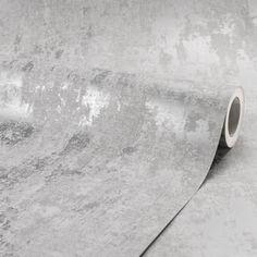 I Love Wallpaper Milan Metallic Wallpaper Grey Silver - Wallpaper from I Love Wallpaper UK Wallpaper Decor, Bathroom Wallpaper, Love Wallpaper, Versace Bedroom Wallpaper, Grey Metallic Wallpaper, Grey Pattern Wallpaper, Rustic Wallpaper, Luxury Wallpaper, Feature Wall Bedroom