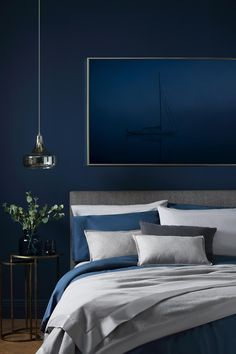 Blue Colours for Bedroom Best Of the Best Way to Use Pantone S Classic Blue In the Bedroom Gold Bedroom, Modern Bedroom, Bedroom Decor, Bedroom Ideas, Navy Blue Bedrooms, Blue Rooms, Best Bedroom Paint Colors, Inside A House, My New Room