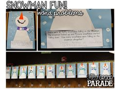 Snowman Fun, Freebies, and a Place Value Sneak Peek!  Use for word problem activities for alt outcomes?