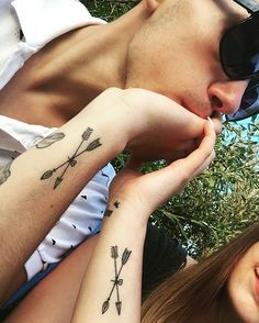 Here are Tiny Couples Matching Tattoos Ideas for every tattoos lover couple. Please check and get ideas about having matching tattoos with your partner. You can express your feelings about these tattoos in comments below.