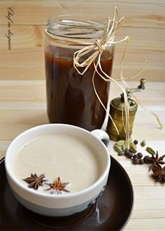 This chai tea recipe is fantastic! I didn't have orange peel on hand, and I subbed fennel for star anise (since I didn't have any). Wonderful!