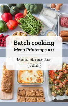 Batch cooking Printemps – Food for Healty Healthy Eating Tips, Healthy Drinks, Healthy Dinner Recipes, Budget Freezer Meals, Frugal Meals, Budget Recipes, Chicken Lunch Recipes, Batch Cooking, Creative Food