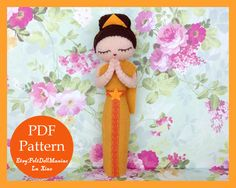 Felt Doll. Felt pattern. PDF Pattern. Sewing pattern. Felt Crafts. Dolls of the world.