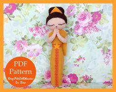 Felt Doll. Felt pattern. PDF Pattern. Sewing pattern. Felt Crafts. Dolls of the world.