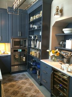 Navy Kitchen Cabinets | Kips Bay Decorator Show House 2014 | The English Room