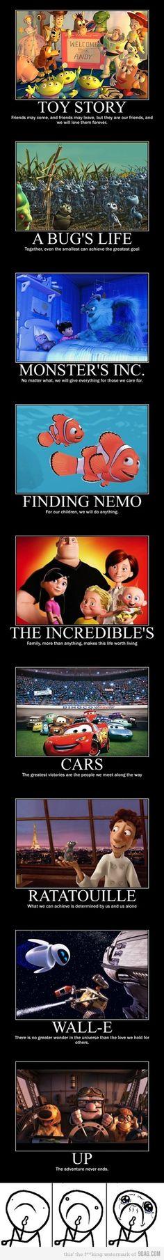 So what, its Pixar. I couldn't tell DreamWorks, Pixar or Disney apart until I was. Disney Pixar, Disney Amor, Disney E Dreamworks, Disney Films, Disney Love, Disney Magic, Pixar Movies, Disney Stuff, Childhood Movies