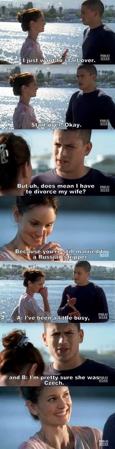 Prison Break S04E02 Michael & Sara.