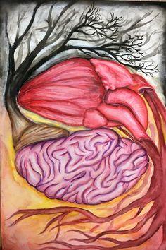Heart and brain art