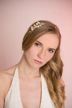Bridal Hair Halo Bridal Freshwater Pearls by MilaKolitsova on Etsy