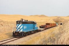 Net Photo: CMR 1814 Central Montana Railway EMD at Hoosac, Montana by Justin Franz Burlington Northern, Locomotive, Montana, History, American, Botanical Drawings, Flathead Lake Montana, Historia, Locs