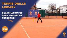 Top tennis drills: Deep Forehand and short Forehand combo Tennis Videos, Drills, Basketball Court, Deep, Tennis, Drill
