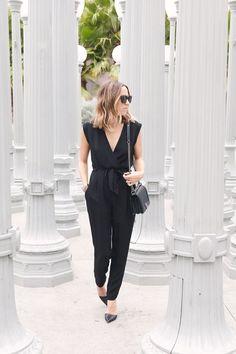 black office jumpsuit