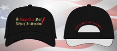 Our 'Republic For Which It Stands' cap! Constitution, Baseball Cap, America, Hats, Fun, Baseball Hat, Hat, Bill Of Rights, Lol