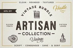 The Artisan Collection (Font Bundle) by Hustle Supply Co. on @creativemarket