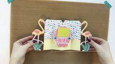 Happy Birthday Flamingo Fold-A-Long DIY Card