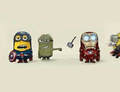 Minion Avengers - too cute! ...and surprisingly accurate.
