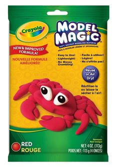Crayola® Model Magic® adds a new dimension to crafting creative art projects. Model Magic is a soft, easy-to-use modeling material that lets you and your kids create colorful, keepable art. SAFE & EASY: Model Magic air-dries, usually within 24 hours. These 4-ounce packs come in 10 different colors.