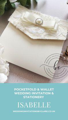 Chic Wedding, Lace Wedding, Bespoke Wedding Invitations, Sky Art, Bespoke Design, Shabby Chic, Stationery, Wedding Inspiration, Wallet