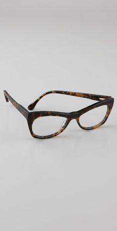 Elizabeth and James Centinela #Glasses with cat-eye frames.