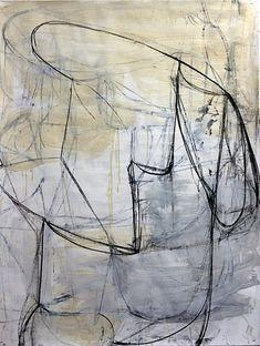 Deborah Dancy, Winter #22  2014, acrylic, charcoal on paper