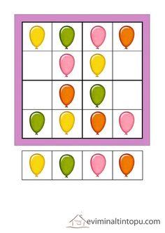renkli sudoku çalışmaları