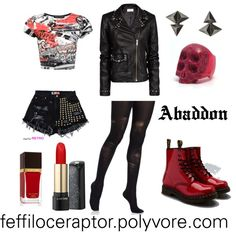 """Abaddon"" by feffiloceraptor on Polyvore #Supernatural #casualcosplay"
