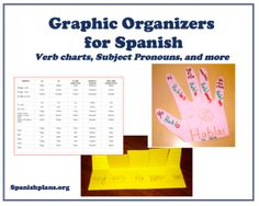Graphic Organizers for Spanish including verb charts. Free download.